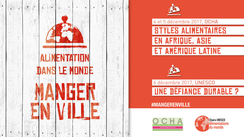 Afiche del coloquio sobre la desconfianza alimentaria y la comida urbana.