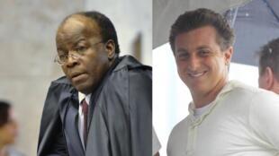 O ex-ministro do STF Joaquim Barbosa e o apresentador de TV Luciano Huck são possíveis candidatos para as eleições