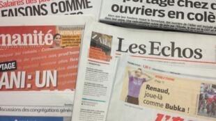 Primeiras páginas diários franceses 5/3/2013