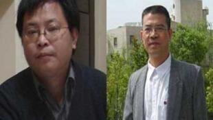 2011年12月先后因颠覆国家·政权罪而被判处九年和十年监禁的中国四川异议分子陈卫和贵州异议分子陈西(右)。