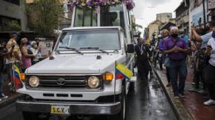 Procesión de la imagen del Nazareno de San Pablo, el 31 de marzo de 2021 en Caracas