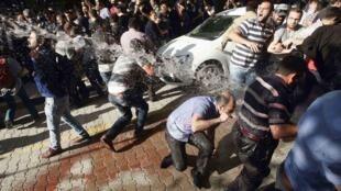 Манифестация в связи с катастрофой на шахте в турецком г. Маниза 16/05/2014