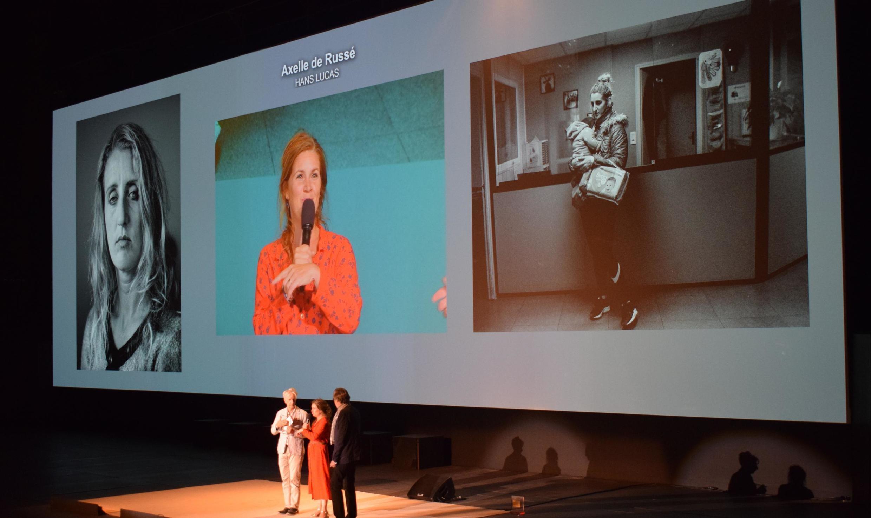 Axelle de Russé accepts the Pierre and Alexandra Boulot award, September 5, 2019