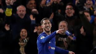 Dan wasan Chelsea Eden Hazard.