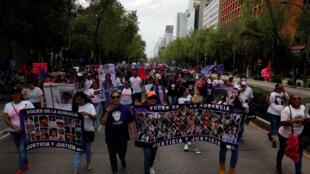 Manifestation contre les crimes perpétrés sur les femmes à Mexico, le 3 novembre dernier.