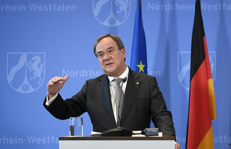 Armin Laschet, primer ministro del estado alemán de Renania del Norte-Westfalia, el 10 de marzo de 2020 en Dusseldorf