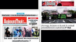 Na resenha da imprensa francesa desta terça-feira a expectativa com os protestos de 1° de Maio.