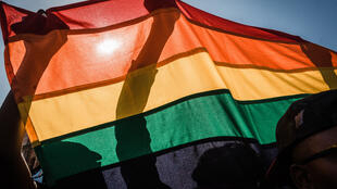 A rainbow flag at the annual Gay Pride Parade in Durban this year