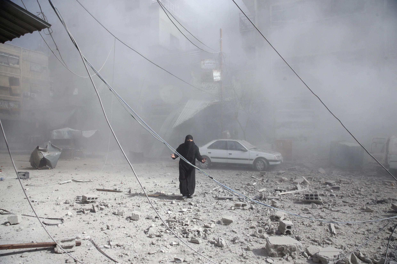 A raid on East Ghouta on 7 February