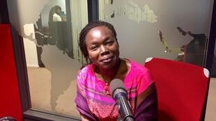 L'écrivaine franco-sénégalaise Fatou Diome en studio à RFI (août 2019).