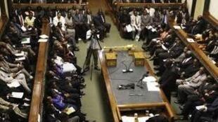 Wabunge wa bunge la Zimbabwe wakiwa katika kikao huko Harare