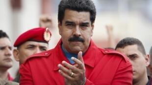 Nicolás Maduro en la ceremonia de conmemoración del 2° aniversario de la muerte de Chávez, Caracas, 5 de marzo de 2015.