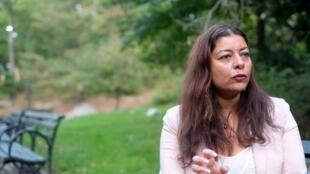 Sandra Muller accusait sur Twitter son ex-patron de harcèlement sexuel, en octobre 2017. Elle a été l'initiatrice du mouvement #BalanceTonPorc.