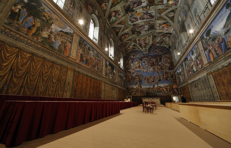 Nhà nguyện Sistine, nơi sẽ diễn ra cuộc họp Mật nghị Hồng y bầu Giáo hoàng vào ngày 12/03/2013.