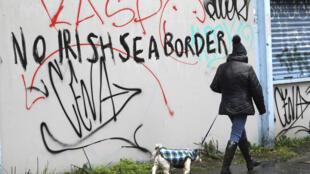 graffiti irlande douane brexit_AP21034463225200
