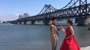 Le pont de l'Amitié de Dandong qui relie la Chine à la Corée du Nord.