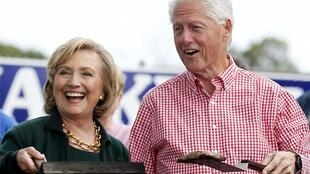 Hillary and Bill Clinton in Iowa, September 2014