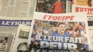 Primeiras páginas diários franceses 6/07/2016