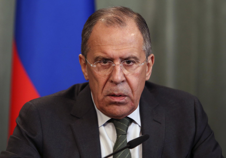 Сергей Лавров на пресс-конференции в Москве 08/04/2014
