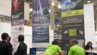 Foto estande brasileiro na CeBIT