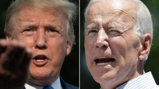 Le président américain Donald Trump (g.) et Joe Biden, son rival démocrate à la présidentielle du 3 novembre 2020.