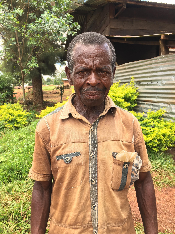 Alfonse Mbere Muti Aherire, religion teacher in Bingo, North Kivu, DRC, who believes Ebola exists