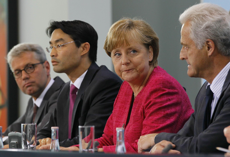 Thủ tướng Angela Merkel trong cuộc họp báo ngày 30/05/2011, để công bố chính sách chấm dứt năng lượng hạt nhân tại Đức