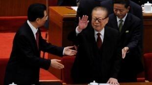2011年10月9日,江澤民在北京出席中共組織的辛亥革命百周年活動。