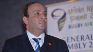 Le nouveau président de Rugby Afrique, le Tunisien Khaled Babbou.