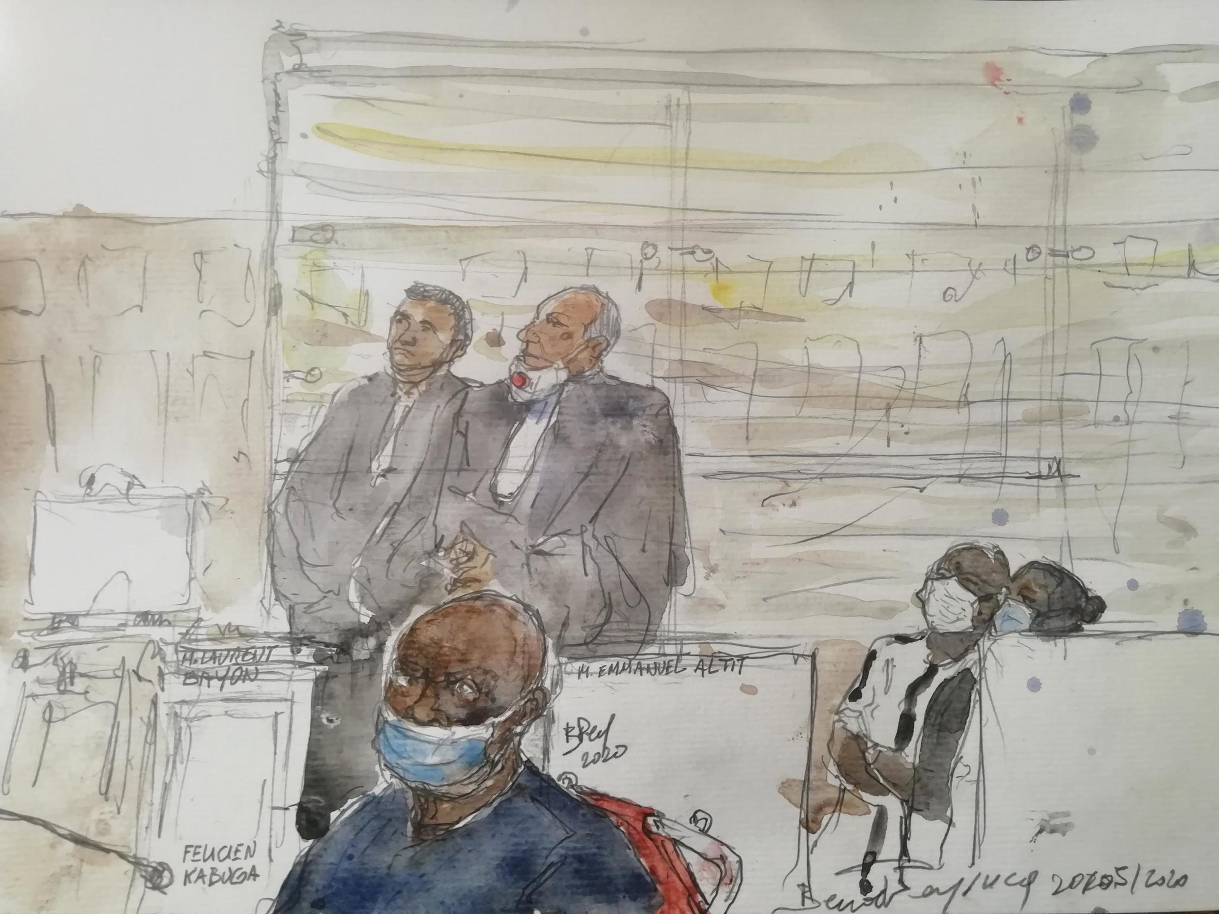 Félicien Kabuga in court on 20 May 2020