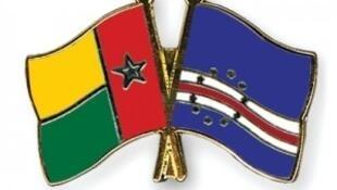 Bandeira da Guiné-Bissau e de Cabo Verde