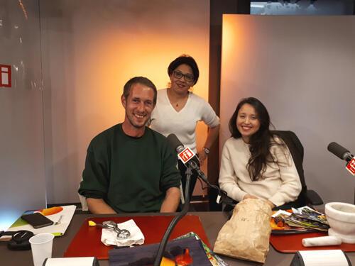 Pierre Gayet, Mercedes Ahumada et Tatiana Levha.