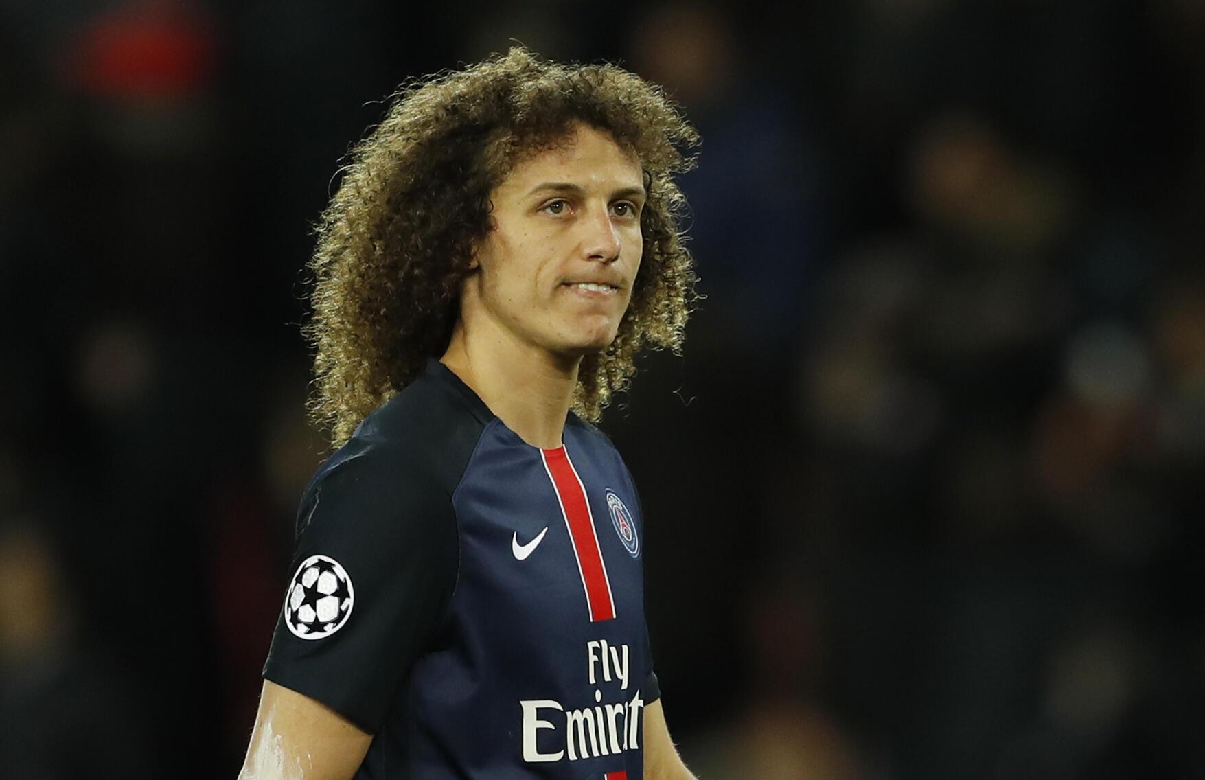 O zagueiro David Luiz, depois do empate do Paris Saint-Germain com o Manchester City nesta quarta-feira (6) no Parc des Princes, em Paris.