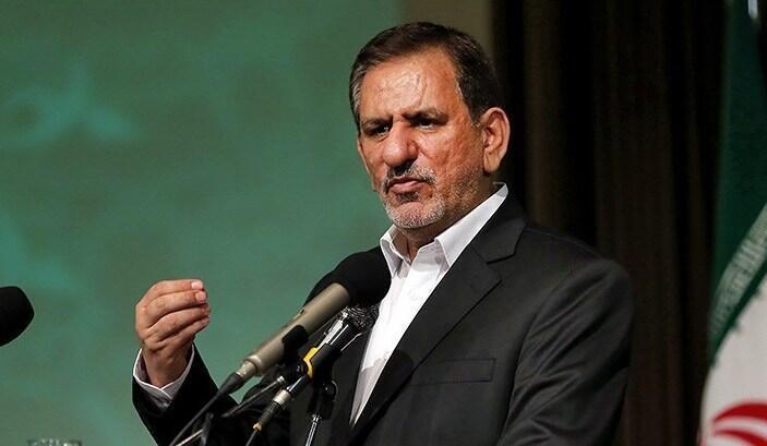 اسحاق جهانگیری معاون اول رئیس جمهوری ایران.