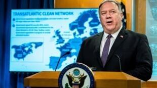 美国国务卿蓬佩奥 资料照片