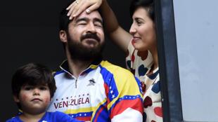Daniel et Patricia Ceballos, à Caracas, le 12 août 2015.