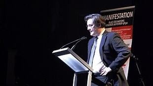 Guillaume Denoix de St Marc addresses a conference