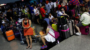2016年6月2日,台湾桃园国际机场因暴雨而一度供电中断。