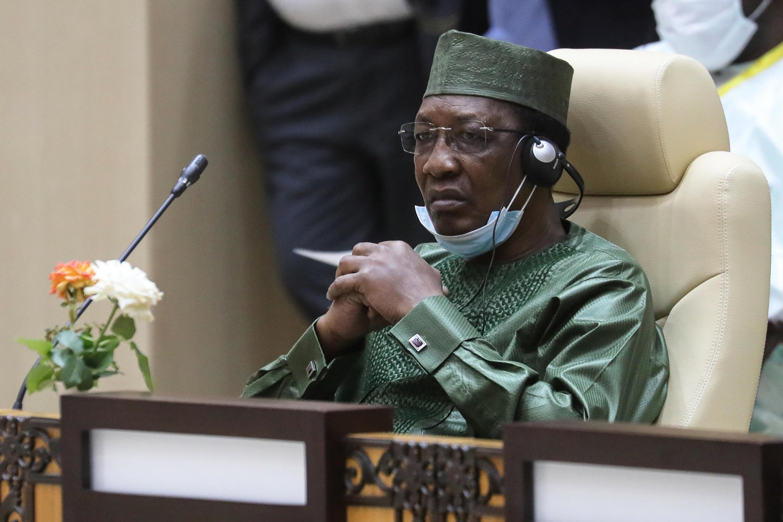 Shugaban kasar Chadi Idriss Déby da ke neman wa'adi na 6 a zaben kasar da ke tafe a watan gobe.