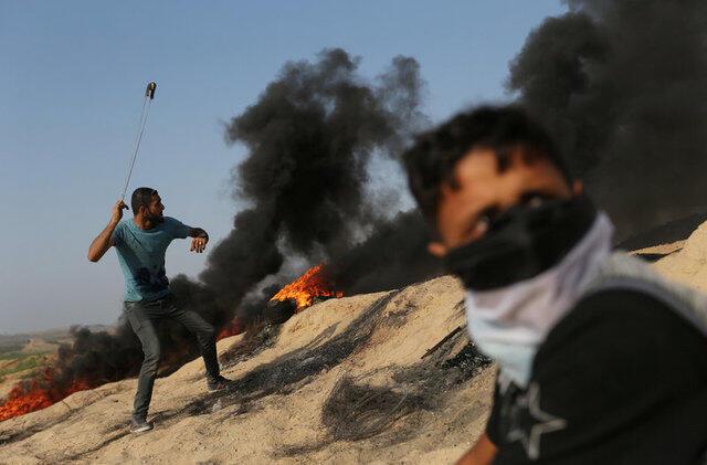 巴勒斯坦人与以色列军警爆发冲突。2017-07-21