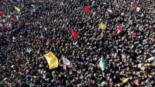 Dozens of people were killed in a stampede at the funeral for General Qasem Soleimani in Kerman,Iran, 7 January 2020.