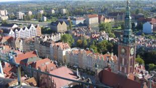 Vista da cidade de Gdansk