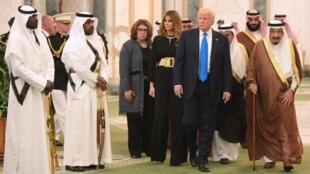 Shugaban Amurka Donald Trump tare da Sarki Salman na Saudiya
