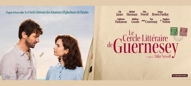 """فیلم """"Le Cercle littéraire de Guernesey"""" (گردهمایی ادبی گِرنِزی) از """"مایک نوول"""" کارگردان بریتانیایی، در سینماهای فرانسه به نمایش درآمد."""