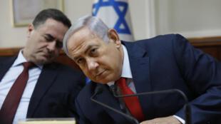 以色列总理内塔尼亚胡等待出席周末部长会议2017年10月29日