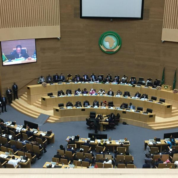 Egypt's President Abdelfattah al Sisi finished his year as Chair of the AU in Addis Ababa, Ethiopia on 9 February 2020