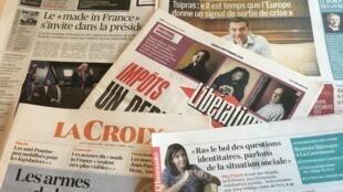 Primeiras páginas dos diários franceses 8/09/2016