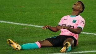 Le jeune attaquant du FC Barcelone, Ansu Fati pourrait être absent plusieurs mois.