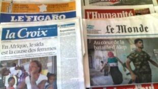 Capas dos jornais de 23/07/12