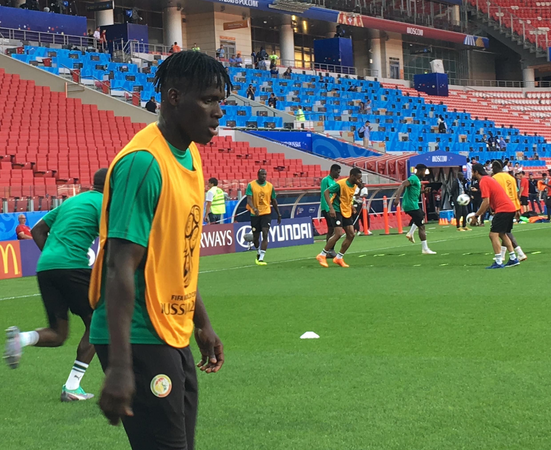 Le défenseur Kara Mbodji avant le match Pologne-Sénégal de Coupe du monde 2018.